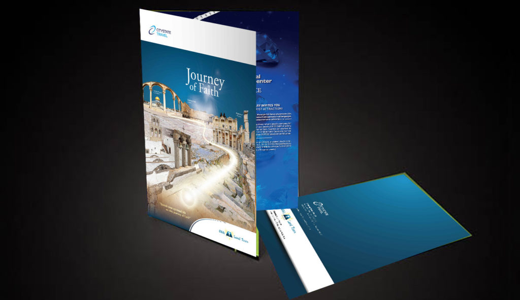 Brochure Design | Citystate Bibleland Travel Book