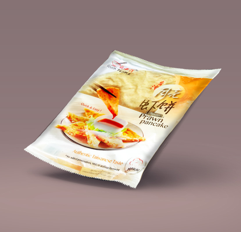 Product Packaging Design | Food People Prawn pancake packaging