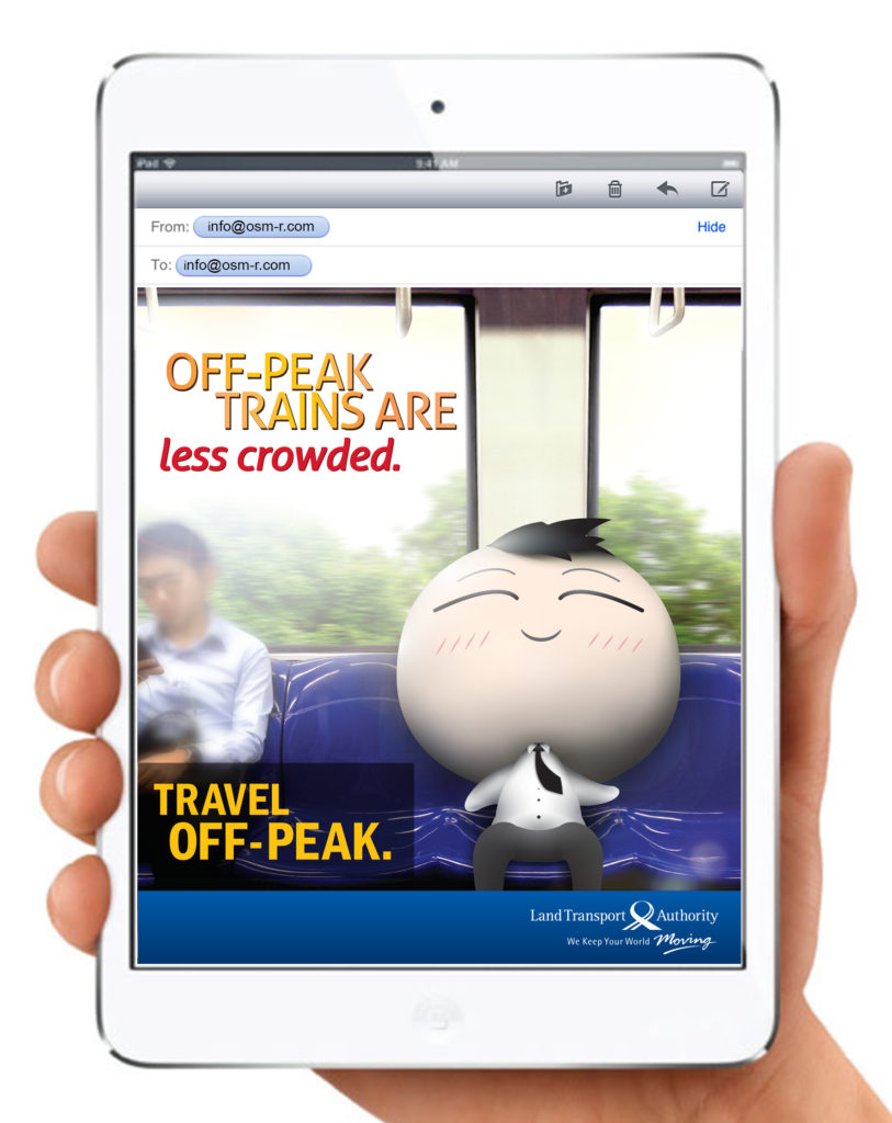 Electronic Poster Design: travel off-peak emailer poster