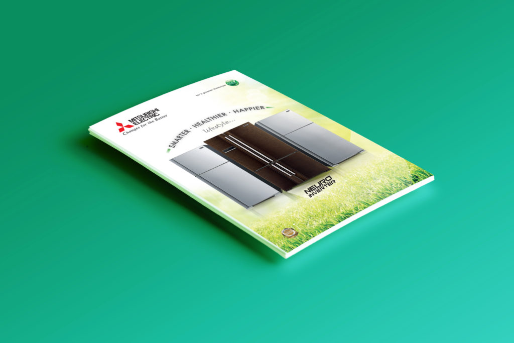 Catalogue Design | Mitsubishi Electric Fridge Brochure