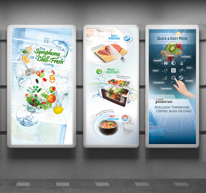 POSM Lightbox Design | Mitsubishi Electric Store Poster