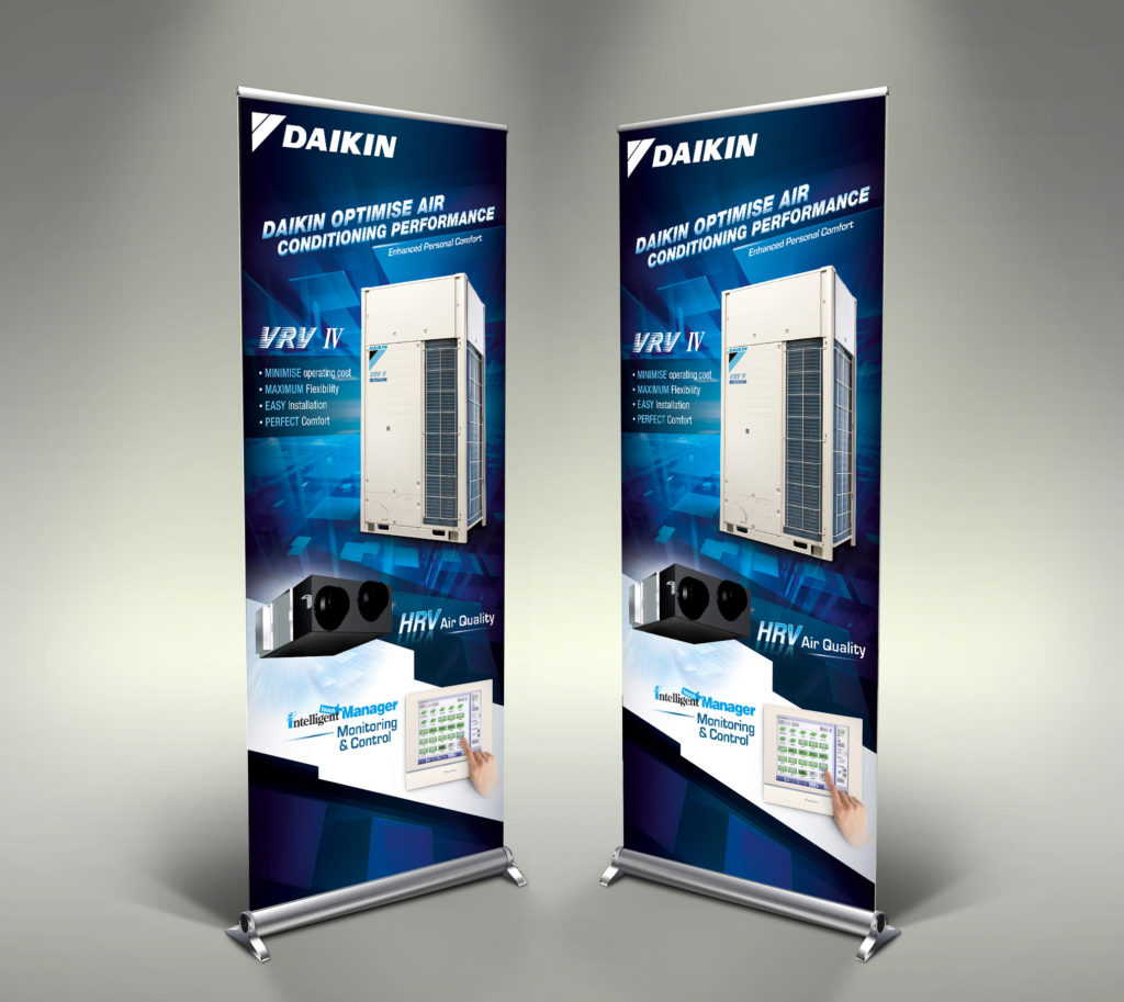 Banner Design | daikin vrv-iv roll up banner